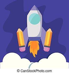 rocket launcher with pencils