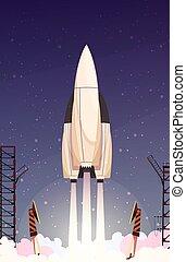 Rocket Missile Takeoff Composition