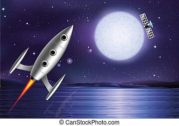 rocket satellite
