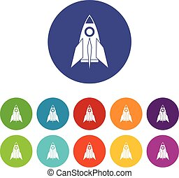 Rocket set icons