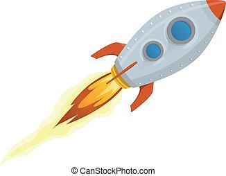 Rocket Ship - Illustration of a rocket ship space vehicle ...