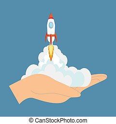 Rocket ship in a flat