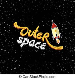 rocket ship launch theme vector art illustration