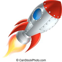 Rocket Space Ship Cartoon - An illustration of a cartoon ...