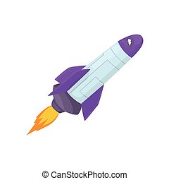 Rocket space ship cartoon vector Illustration