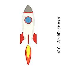 rocket start up launcher icon vector illustration design
