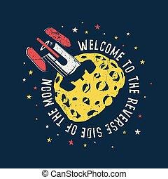 Rocket stuck in the moon