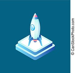 Rocket Symbol, Business Equipment, Ship Vector