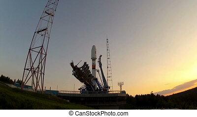 Rocket take off - Russian rocket launch