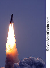 Rocket taking off - Launch of the Endeavour rocket taking...