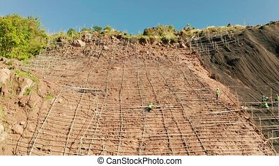 Rockfall protection netting, safety wire mesh in the ...