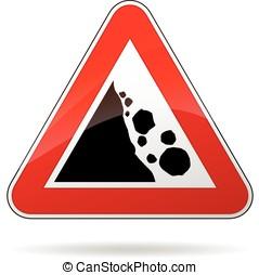 rockfall sign