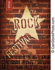 rockfestival, poster., vektor, eps10