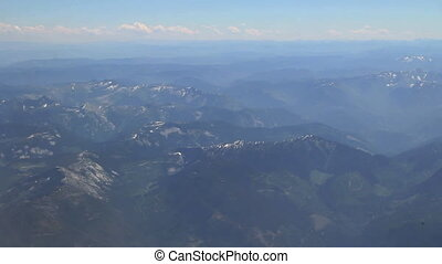Rockies - Aerial view of mountains from airplane