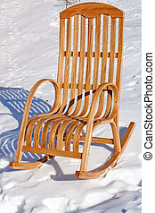 Rocking chair in the snow