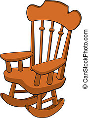 Vector illustration of a rocking chair.