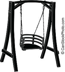 rocking-chair, vektor, -
