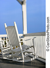 Rocking chairs on porch. - Rocking chairs on porch on Bald...