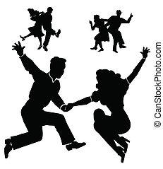 rocking down the house - dancers from fifties era dancing ...