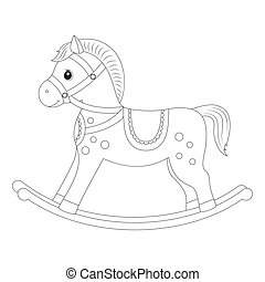 Rocking horse for coloring book