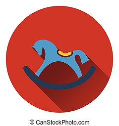 Rocking horse icon. Flat color design. Vector illustration.