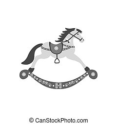 Rocking Horse icon on the white background. Vector...