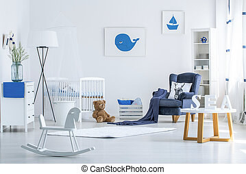 Rocking horse in baby's room