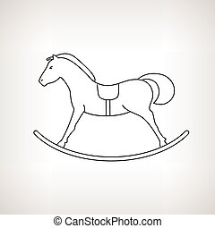 Rocking Horse on a Light Background