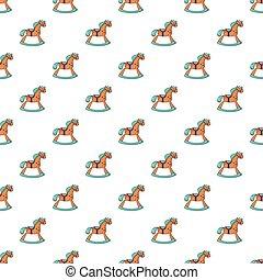 Rocking horse pattern seamless - Rocking horse pattern in...