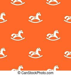 Rocking horse pattern seamless - Rocking horse pattern...