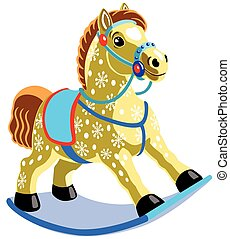 rocking horse toy , isolated image for little kids
