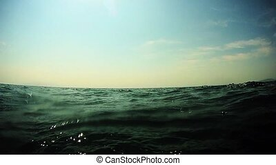 Rocking on the waves of the sea