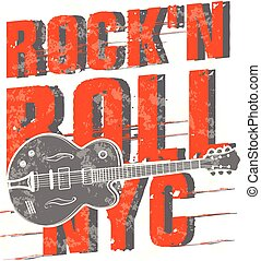Rock'n Roll poster design