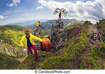 Rocks and flowers of the tract of Hajin Gudgeon Chernogora