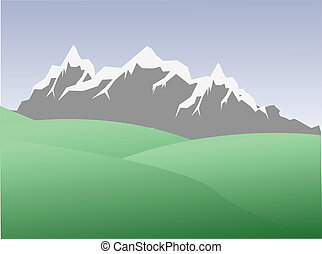 landscape high mountains