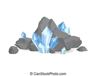 Rocks and Minerals Collection Vector Illustration