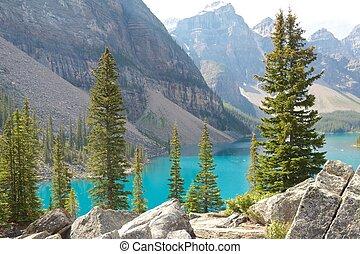 Rocks and Moraine Lake