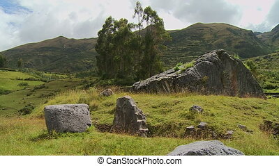 Rocks and the beautiful landscape - A still wide shot of the...