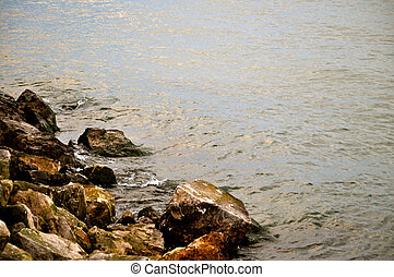 Rocks and water background