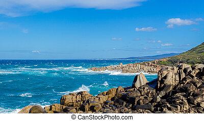 Rocks at australian coast in New South Wales, Australia