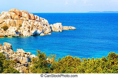 Rocks at Capo Testa Santa Teresa Gallura on Mediterranean ...