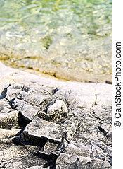 Rocks at Georgian Bay - Rock patterns at shore of Georgian ...