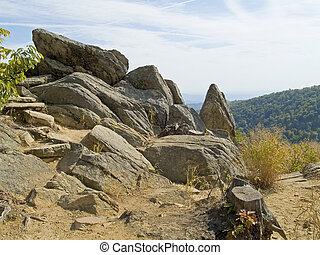 Rocks atop Shenandoah - A group of large stones along the...