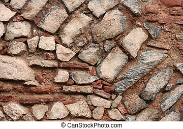 Wall with rocks background