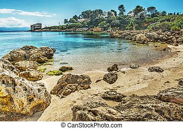 rocks by the sea in Sardinia