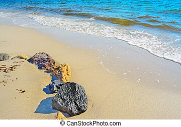 rocks by the shore in Sardinia