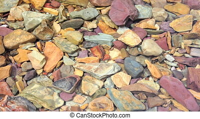 Rocks - Colorful rocks under water
