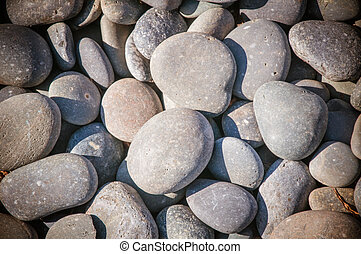 Rocks - Gre round pebble rocks to be used as textrue or...