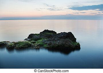Rocks in a frozen sea