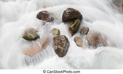 Rocks in a river